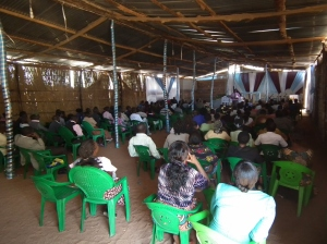 The packed church on the last day