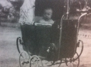 Margaret in the pram